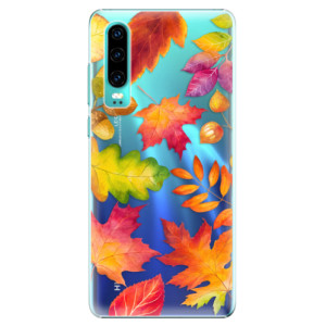 Plastové pouzdro iSaprio Podzimní Lístečky na mobil Huawei P30