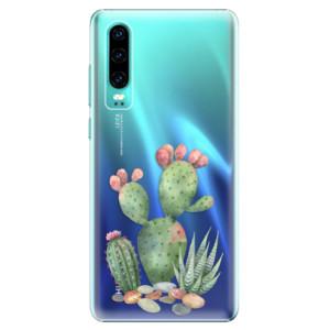 Plastové pouzdro iSaprio Kaktusy 01 na mobil Huawei P30