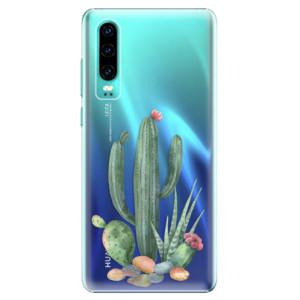Plastové pouzdro iSaprio Kaktusy 02 na mobil Huawei P30