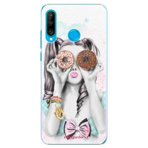 Plastové pouzdro iSaprio Donutky Očiska 10 na mobil Huawei P30 Lite
