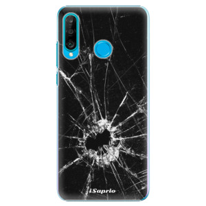 Plastové pouzdro iSaprio Broken Glass 10 na mobil Huawei P30 Lite