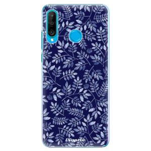Plastové pouzdro iSaprio Blue Leaves 05 na mobil Huawei P30 Lite