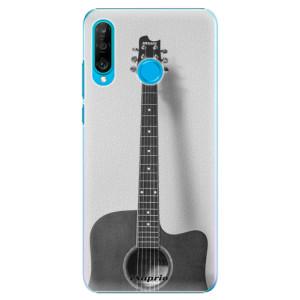 Plastové pouzdro iSaprio BW Kytara 01 na mobil Huawei P30 Lite