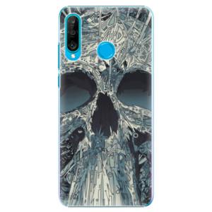 Plastové pouzdro iSaprio Abstract Skull na mobil Huawei P30 Lite