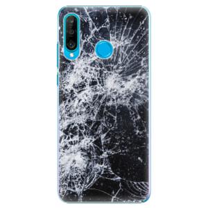 Plastové pouzdro iSaprio Praskliny na mobil Huawei P30 Lite