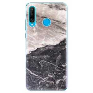 Plastové pouzdro iSaprio BW Mramor na mobil Huawei P30 Lite