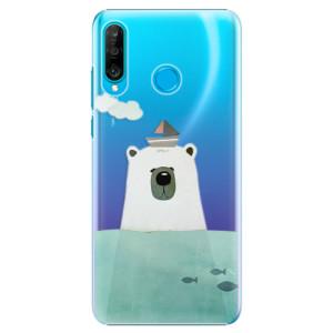 Plastové pouzdro iSaprio Medvěd s Lodí na mobil Huawei P30 Lite