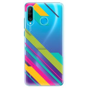 Plastové pouzdro iSaprio Barevné Pruhy 03 na mobil Huawei P30 Lite