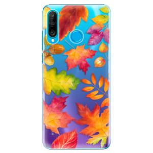 Plastové pouzdro iSaprio Podzimní Lístečky na mobil Huawei P30 Lite