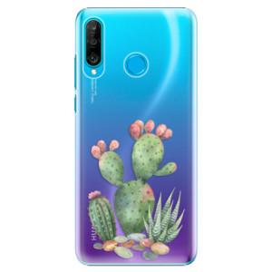 Plastové pouzdro iSaprio Kaktusy 01 na mobil Huawei P30 Lite