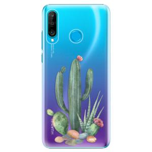 Plastové pouzdro iSaprio Kaktusy 02 na mobil Huawei P30 Lite