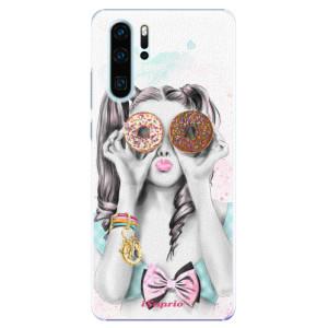 Plastové pouzdro iSaprio Donutky Očiska 10 na mobil Huawei P30 Pro
