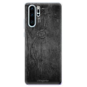 Plastové pouzdro iSaprio Black Wood 13 na mobil Huawei P30 Pro
