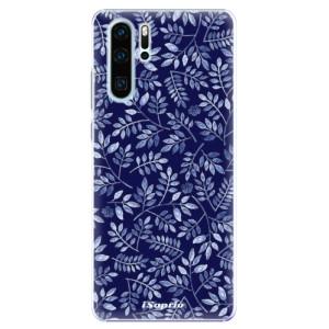 Plastové pouzdro iSaprio Blue Leaves 05 na mobil Huawei P30 Pro