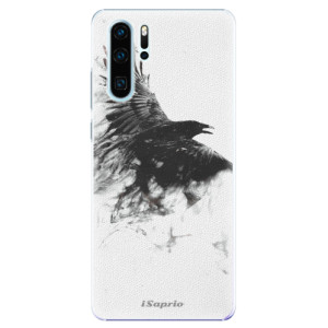 Plastové pouzdro iSaprio Havran 01 na mobil Huawei P30 Pro