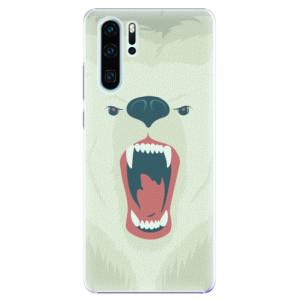 Plastové pouzdro iSaprio Naštvanej Medvěd na mobil Huawei P30 Pro