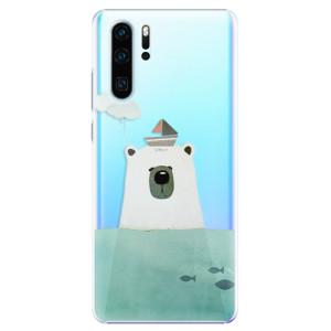 Plastové pouzdro iSaprio Medvěd s Lodí na mobil Huawei P30 Pro