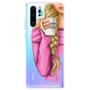 Plastové pouzdro iSaprio Blondýnka s kafčem na mobil Huawei P30 Pro