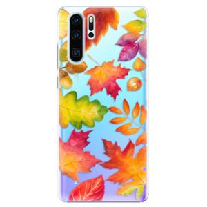 Plastové pouzdro iSaprio Podzimní Lístečky na mobil Huawei P30 Pro