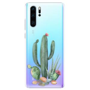 Plastové pouzdro iSaprio Kaktusy 02 na mobil Huawei P30 Pro