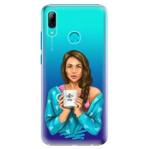 Plastové pouzdro iSaprio Coffee Now Brunetka na mobil Huawei P Smart 2019