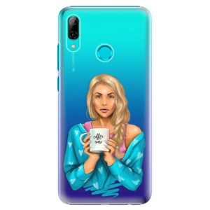 Plastové pouzdro iSaprio Coffee Now Blondýna na mobil Huawei P Smart 2019