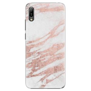 Plastové pouzdro iSaprio Růžovozlatý Mramor 10 na mobil Huawei Y6 2019