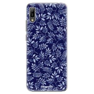 Plastové pouzdro iSaprio Blue Leaves 05 na mobil Huawei Y6 2019