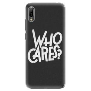 Plastové pouzdro iSaprio Who Cares na mobil Huawei Y6 2019