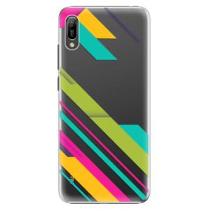 Plastové pouzdro iSaprio Barevné Pruhy 03 na mobil Huawei Y6 2019