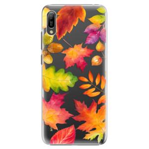 Plastové pouzdro iSaprio Podzimní Lístečky na mobil Huawei Y6 2019