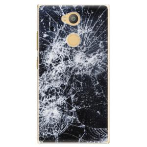 Plastové pouzdro iSaprio Praskliny na mobil Sony Xperia L2