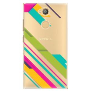 Plastové pouzdro iSaprio Barevné Pruhy 03 na mobil Sony Xperia L2