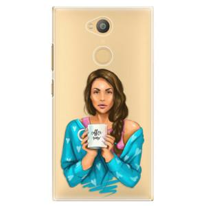 Plastové pouzdro iSaprio Coffee Now Brunetka na mobil Sony Xperia L2
