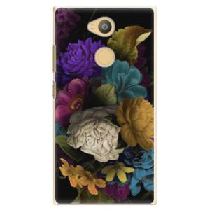 Plastové pouzdro iSaprio Temné Květy na mobil Sony Xperia L2