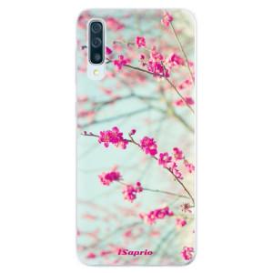 Silikonové pouzdro iSaprio (mléčně zakalené) Blossom 01 na mobil Samsung Galaxy A50