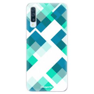 Silikonové pouzdro iSaprio (mléčně zakalené) Abstract Squares 11 na mobil Samsung Galaxy A50 / A30s