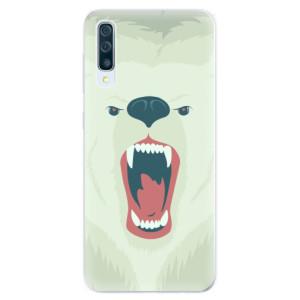 Silikonové pouzdro iSaprio (mléčně zakalené) Naštvanej Medvěd na mobil Samsung Galaxy A50 / A30s