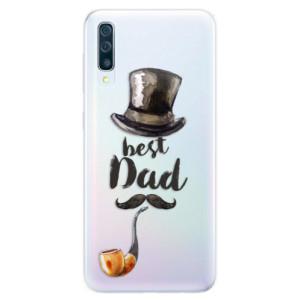 Silikonové pouzdro iSaprio (mléčně zakalené) Best Dad na mobil Samsung Galaxy A50 / A30s