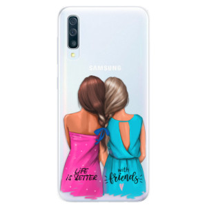 Silikonové pouzdro iSaprio (mléčně zakalené) Best Friends na mobil Samsung Galaxy A50 / A30s