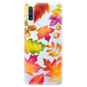 Silikonové pouzdro iSaprio (mléčně zakalené) Podzimní Lístečky na mobil Samsung Galaxy A50 / A30s
