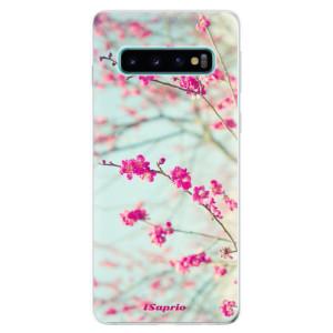 Silikonové odolné pouzdro iSaprio Blossom 01 na mobil Samsung Galaxy S10