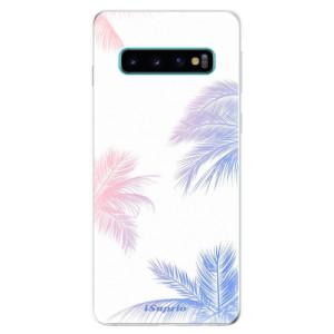 Silikonové odolné pouzdro iSaprio Palmy 10 na mobil Samsung Galaxy S10