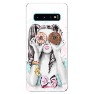 Silikonové odolné pouzdro iSaprio Donutky Očiska 10 na mobil Samsung Galaxy S10