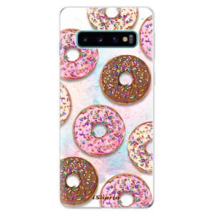Silikonové odolné pouzdro iSaprio Donutky Všude 11 na mobil Samsung Galaxy S10
