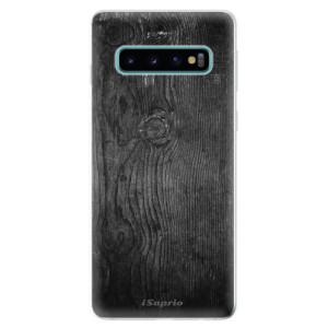 Silikonové odolné pouzdro iSaprio Black Wood 13 na mobil Samsung Galaxy S10