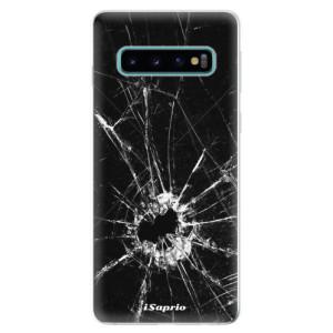 Silikonové odolné pouzdro iSaprio Broken Glass 10 na mobil Samsung Galaxy S10