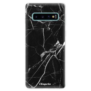 Silikonové odolné pouzdro iSaprio Black Marble 18 na mobil Samsung Galaxy S10