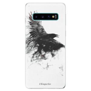 Silikonové odolné pouzdro iSaprio Havran 01 na mobil Samsung Galaxy S10