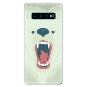 Silikonové odolné pouzdro iSaprio Naštvanej Medvěd na mobil Samsung Galaxy S10
